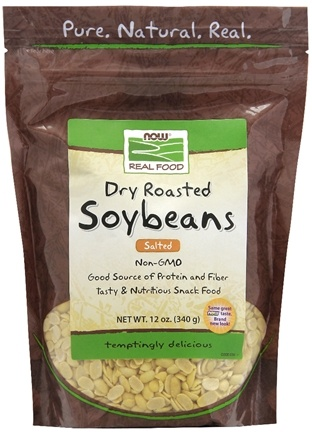 DROPPED: NOW Foods - Dry Roasted Salted Soybeans - 12 oz.