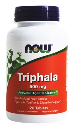 buy now foods triphala 500 mg 120 tablets at