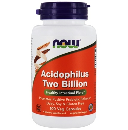DROPPED: NOW Foods - Acidophilus 2 Billion - 100 Capsules