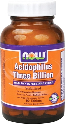 DROPPED: NOW Foods - Acidophilus 3 Billion - 90 Tablets