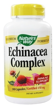 Nature's Way - Echinacea Root Complex (Certified Organic) 450 mg. - 180 Capsules