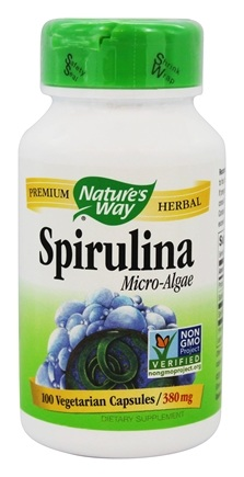 Nature's Way - Spirulina Micro-Algae 380 mg. - 100 Vegetarian Capsules