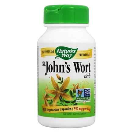 Nature's Way - Saint John's Wort Herb 350 mg. - 100 Capsules