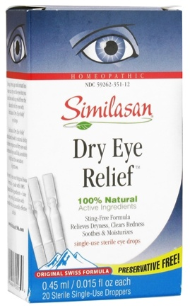 DROPPED: Similasan - Dry Eye Relief 20 Single-Use Droppers - 20 Dropper(s) CLEARANCE PRICED