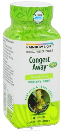 DROPPED: Rainbow Light - Congest-Away - 60 Tablets