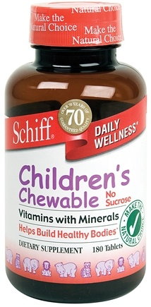 DROPPED: Schiff - Children's Chewable Vitamins with Minerals - 180 Chewable Tablets
