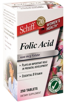DROPPED: Schiff - Folic Acid - 250 Tablets CLEARANCE PRICED