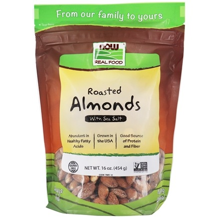 NOW Foods - Roasted Almonds With Sea Salt - 1 lb.