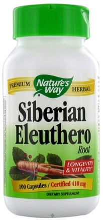 DROPPED: Nature's Way - Siberian Eleuthero Root 410 mg. - 100 Capsules