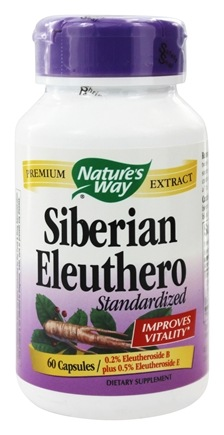 Nature's Way - Siberian Eleuthero Standardized Extract - 60 Capsules