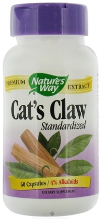 DROPPED: Nature's Way - Standardized Cat's Claw - 60 Capsules CLEARANCE PRICED