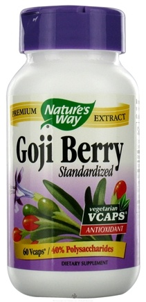 DROPPED: Nature's Way - Standardized Goji Berry - 60 Vegetarian Capsules CLEARANCE PRICED