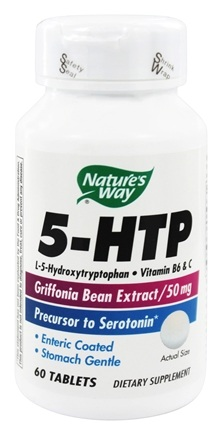 Nature's Way - 5-HTP with B-6 & Vitamin C (Natural Griffonia Bean Extract) 50 mg. - 60 Enteric-Coated Tablets