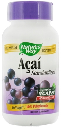 DROPPED: Nature's Way - Acai Standardized - 60 Vegetarian Capsules CLEARANCED PRICED