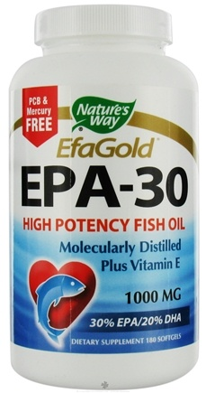 DROPPED: Nature's Way - EPA 30/20 Fish Oil CLEARANCE PRICED 1000 mg. - 180 Softgels