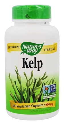 Nature's Way - Kelp 600 mg. - 180 Vegetarian Capsules
