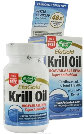 DROPPED: Nature's Way - Efagold Krill Oil 500 mg. - 30 Softgels CLEARANCE PRICED