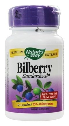 DROPPED: Nature's Way - Bilberry Standardized Extract - 60 Capsules