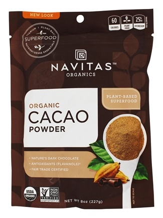 Zoom View - Cacao Power Raw Powder Certified Organic