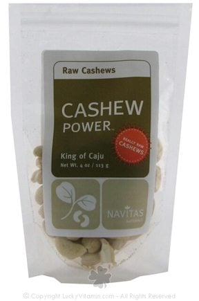 DROPPED: Navitas Naturals - Cashew Power Raw Cashews - 4 oz.