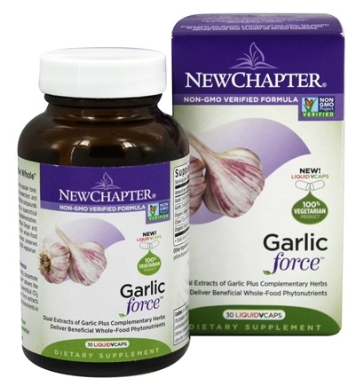 New Chapter - Garlic Force - 30 Vegetarian Capsules