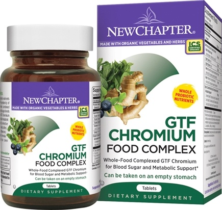 DROPPED: New Chapter - GTF Chromium Complex - 60 Tablets