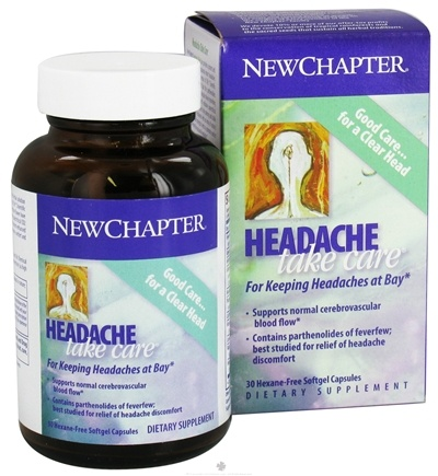 DROPPED: New Chapter - Headache Take Care - 30 Softgels