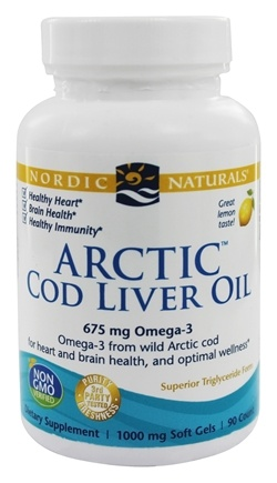 Nordic Naturals - Arctic Cod Liver Oil Lemon 1000 mg. - 90 Softgels