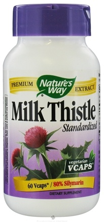DROPPED: Nature's Way - Standardized Milk Thistle - 60 Vegetarian Capsules CLEARANCE PRICED