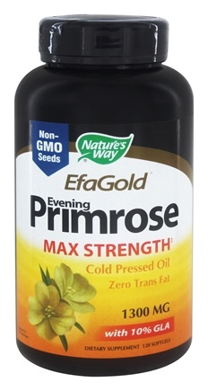 Nature's Way - Evening Primrose Oil High Potency EFA Gold with 10% GLA 1300 mg. - 120 Softgels