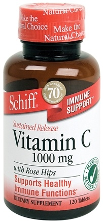 DROPPED: Schiff - Sustained Release Vitamin C1000 with Rose Hips - 120 Tablets