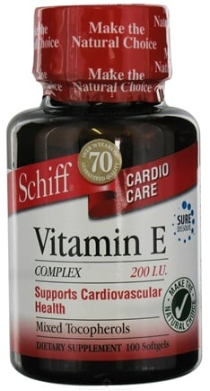 DROPPED: Schiff - Vitamin E Complex 200 IU - 100 Softgels CLEARANCE PRICED