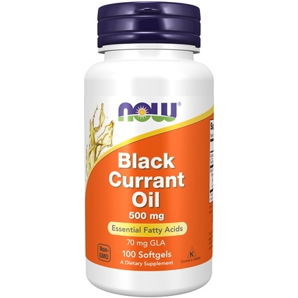 NOW Foods - Black Currant Oil 500 mg. - 100 Softgels