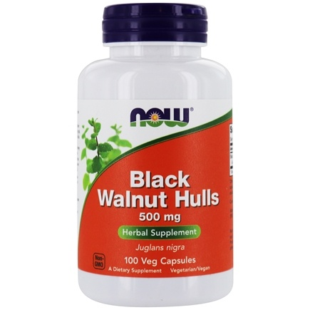 NOW Foods - Black Walnut Hulls 550 mg. - 100 Capsules