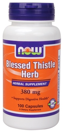 DROPPED: NOW Foods - Blessed Thistle Herb 380 mg. - 100 Capsules