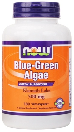 DROPPED: NOW Foods - Blue Green Algae 500 mg. - 180 Vegetarian Capsules