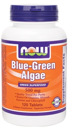 DROPPED: NOW Foods - Blue Green Algae 500 mg. - 120 Tablets