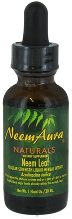 DROPPED: NeemAura Naturals - Neem Leaf Liquid Herbal Extract Regular Strength - 1 oz.
