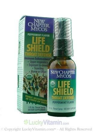 DROPPED: New Chapter - Life Shield Throat Defense Peppermint Flavor - 1 oz. Formerly Host Defense Throat Mist CLEARANCE PRICED