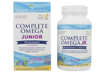 Nordic Naturals - Complete Omega Junior Lemon 500 mg. - 90 Chewable Softgels (formerly Omega-3.6.9 Junior)