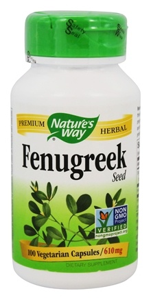 Nature's Way - Fenugreek Seed 610 mg. - 100 Vegetarian Capsules