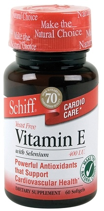 DROPPED: Schiff - Vitamin E with Selenium 400 IU - 60 Capsules