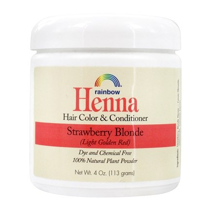 Rainbow Research - Henna Hair Color & Conditioner Strawberry Blonde - 4 oz. Formerly Persian Strawberry