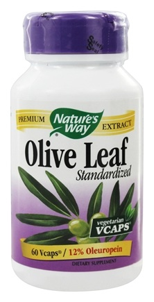 DROPPED: Nature's Way - Standardized Olive Leaf - 60 Vegetarian Capsules