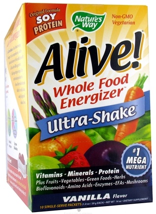 DROPPED: Nature's Way - Alive Soy Ultra-Shake Vanilla - 10 Packet(s)