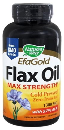 Nature's Way - Flax Oil (High Potency) 1300 mg. - 200 Softgels