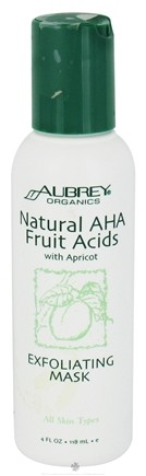 DROPPED: Aubrey Organics - Natural AHA Fruit Acids with Apricot Exfoliating Mask - 4 oz. CLEARANCE PRICED