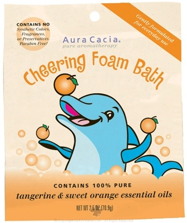 DROPPED: Aura Cacia - Foam Bath for Kids Cheering - 2.5 oz. CLEARANCE PRICED
