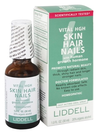 Liddell Laboratories - Vital Skin, Hair, Nails with Human Growth Hormone Homeopathic Oral Spray - 1 oz.