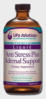 DROPPED: Life Solutions - Liquid Anti-Stress Plus Adrenal Support - 8 oz. CLEARANCE PRICED